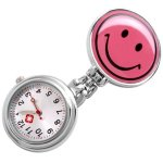 SODIAL(R) Visage souriant Clip Montre a Infirmiere Pendentif portable Quartz Nouveau