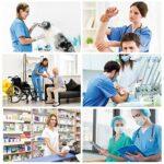B-well Colombo Uniforme Médicale Unisexes Ensemble: Haut et Pantalons + Blouse Medicale Femme/Homme – Tenue Aide Soignante Professionnelle Vêtement médical – Bleu – X-Large