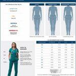 Adar Universal Blouse Médicale Femme – Tunique avec Boutons Pressions – 604 – Navy – 4X