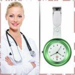 Avaner Montre Infirmiere Silicone Cadran d'Echelle Style Classique Montre de Poche a Quartz pour Femme Fille Etudiant Docteur