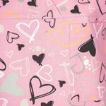 DINOZAVR Bruna Uniforme médical Blouse Tunique de Travail médicale 3 Poches Manches Courtes – Femme – Rose/Coeurs XS