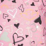 DINOZAVR Carla Uniforme médical Blouse Tunique de Travail médicale 3 Poches Manches Courtes Boutons Pression – Femme – Rose/Coeurs L