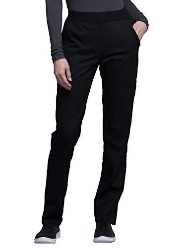 CHEROKEE – Pantalon Taille Élastique CK040 – Pantalon Médical pour Infirmière, Vétérinaire, Aide-Soignante, Kiné L Noir