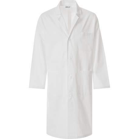 JOBLINE Blouse médicale pour homme. – Blanc – Small