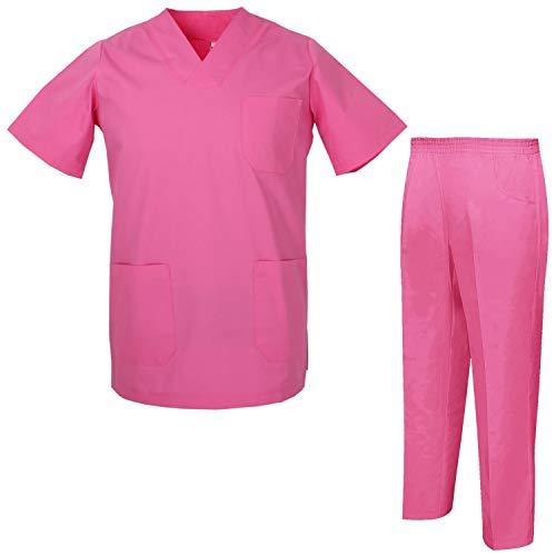 Misemiya – Ensemble Uniformes Unisexe Blouse – Uniforme Médical avec Haut et Pantalon – Ref.8178 – Large, Chemise Sanitaire 817-9 Fuchsia