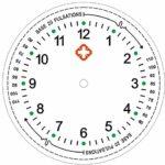 Ellemka – JCM-2103 NN H+ PS Montre Infirmiere Soignant-e | Poche Pendentif Analogue | Digitale Quartz Kit Cadeau | Bande suspension ABS Plastique Clip | Echelle Pouls Violet Viola