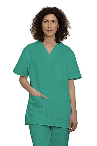 Uniforme Médicale Unisexes pour Hommes et Femmes – Ensemble: Haut et Pantalons Uniforme de la Santé pour Médecin Infirmières Dentistes – Tissu 100% Coton Sanforisé – Certif. Oeko-Tex