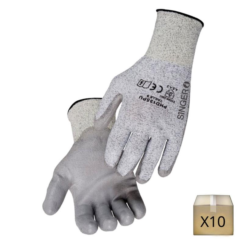 x10 gants anticoupure pehd singer safety