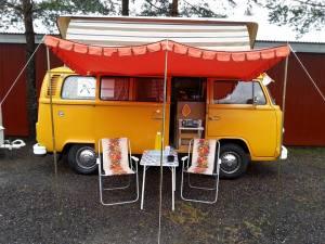 Roar Kristiansen med sin VW Camper 1978 mod.
