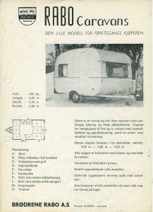 Adria har nylig feiret 50-årsjubileum som caravanprodusent. Her er et informasjonsblad fra 1969, da den norske importøren var Brødrene Rabo i Drammen, en av de store i bransjen på den tiden. BL.