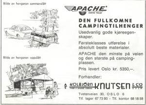 Annonse for Apache fra 1967.BL.