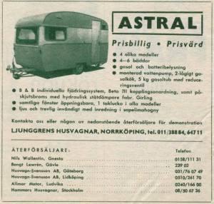 Astral annonse fra 1964. BL