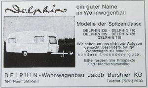 Bürstner annonse. BL