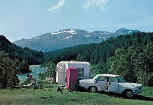 Camping Vang i Valdres. 60-tallet.