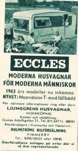 Eccles annonse fra 1963. BL