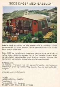Isabella annonse fra 1977. BL