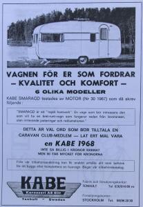 Kabe annonse fra 1968. BL