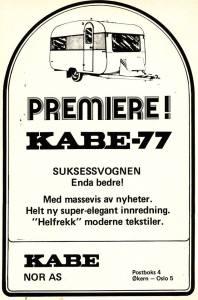 Kabe annonse fra 1977. BL