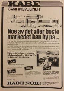 Kabe annonse fra 1978. BL