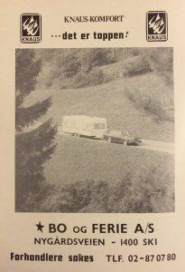 Knaus annonse fra 1977. BL