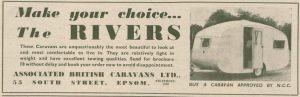 Rivers annonse fra 1953. BL