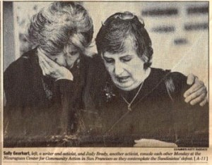 Judith Brady with Sally Gearhart