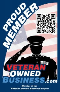 "Veteran Owned Business ""Proud Member"" Badge"