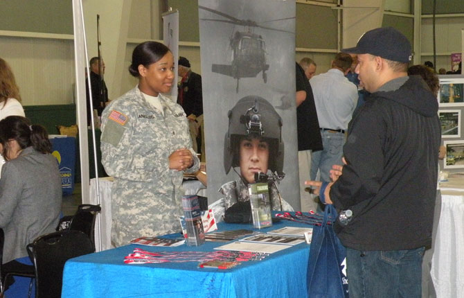 Job fairs for veterans