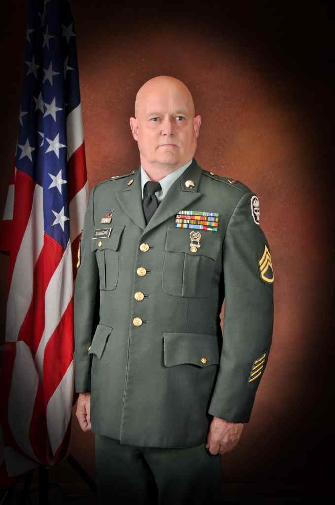 Photo of author in Army dress uniform
