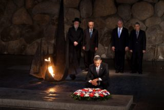Neverending homage - every President must pay his respects in the Hall of Remembrance at the Holocaust Museum in Israel