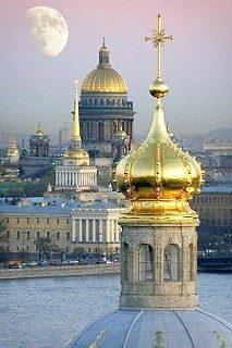 Seven golden domes of St. Petersburg