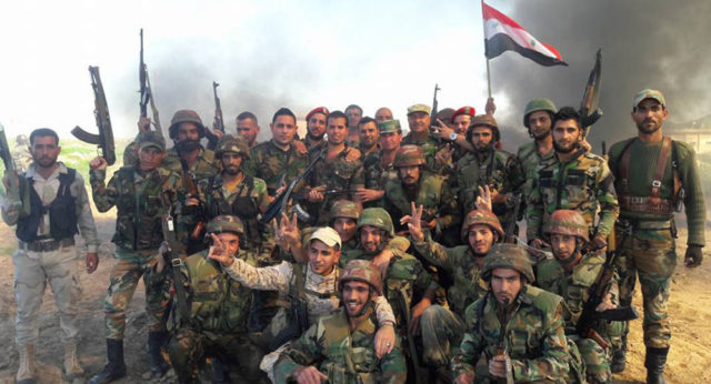 The Syrian army is not fighting in a foreign land as mercenaries - but to save their country