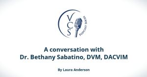 A conversation with Dr. Bethany Sabatino, DVM, DACVIM