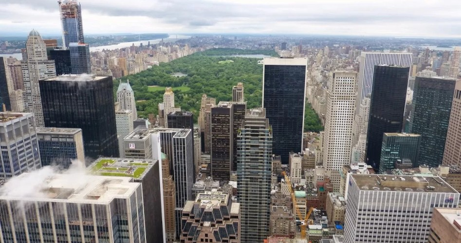 View over Central Park vanaf Top op the Rock in New York City