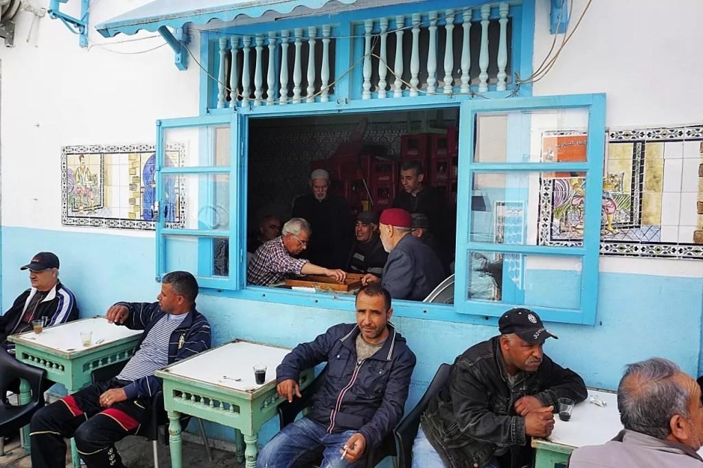 Medina Sousse Tunesië cafe