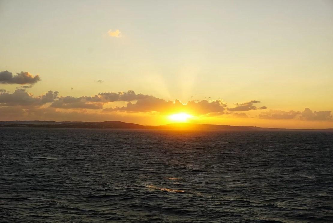 zonsondergang La Valetta MSC Meraviglia