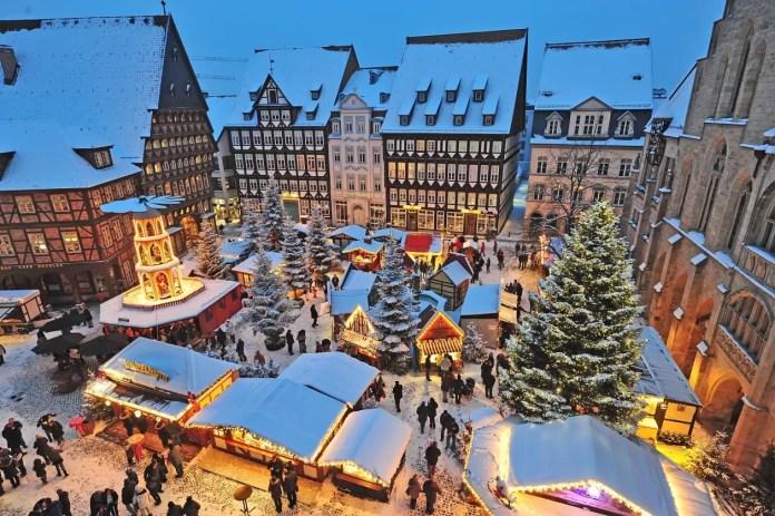 Hildesheim kerstmarkten in Nedersaksen