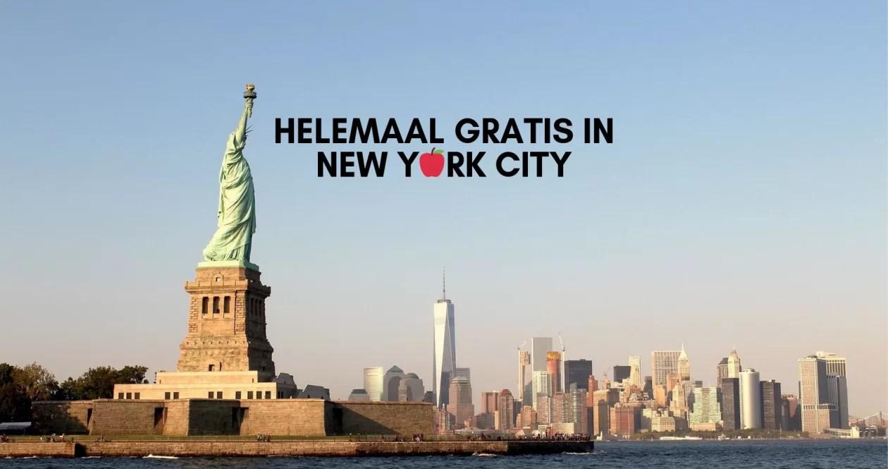 Gratis in New York City: deze lijst kost je helemaal niks