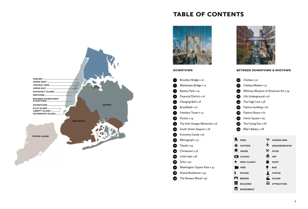 NYC Guide layout example 1 c Silvie Bonne