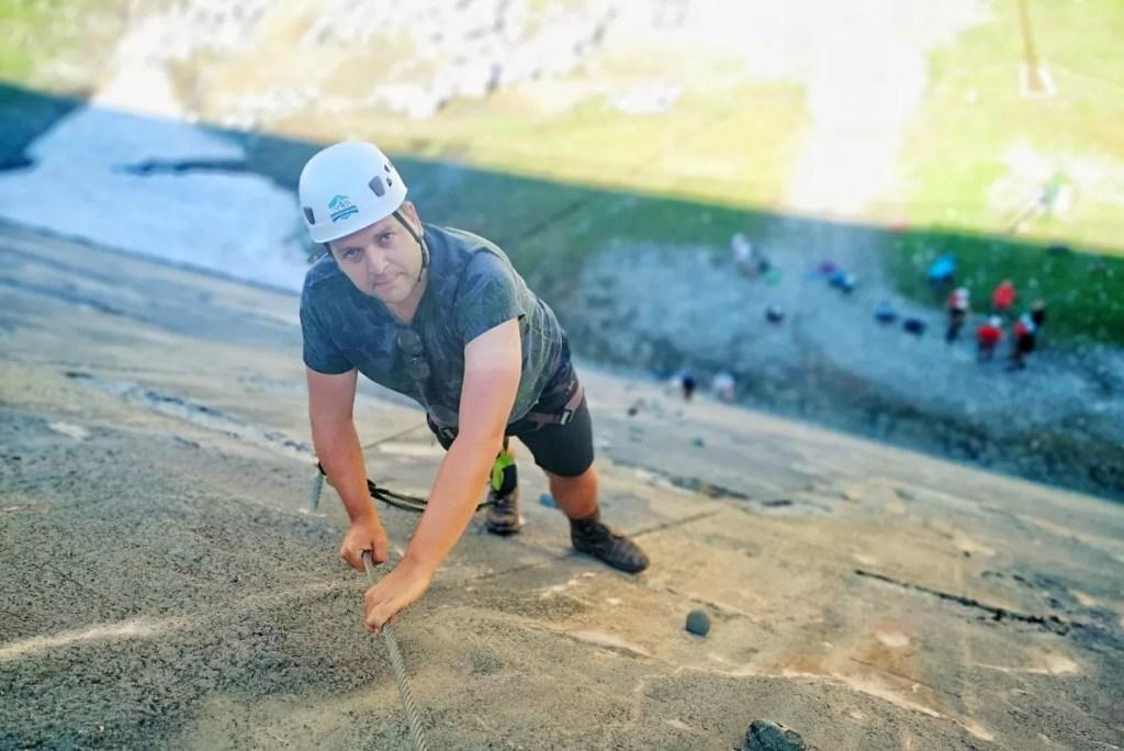Via Ferrata Silvrettasee: angstzweet bij eerste klettersteig