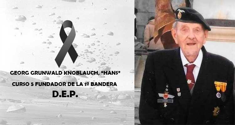 Fallece Hans, Veterano Paracaidista Bripac