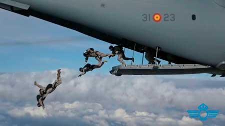 Celebración millón y medio de lanzamientos paracaidistas. VetPac