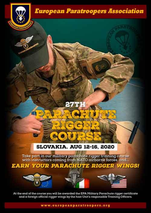 Curso de plegador de paracaidas militare EPA