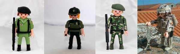 reedificación de muñecos militares españoles