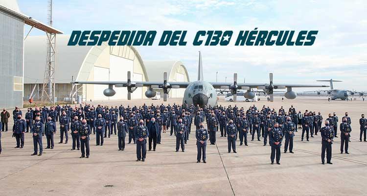 Acto de despedida c130 Hércules en Zaragoza