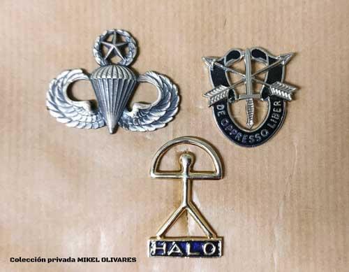 Emblemas paracaidistas Americanos y HALO Mikel Olivares