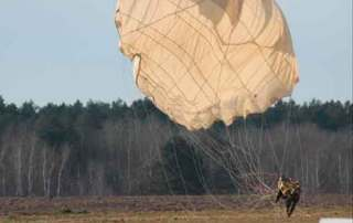 Toma de tierra. Curso paracaidistas EPA en Ukrania. VetPac