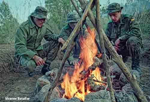 El fuego en la supervivencia en las COE
