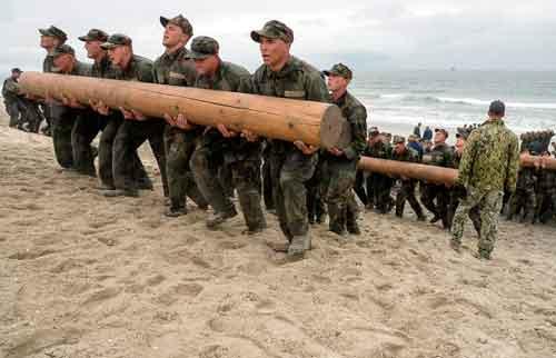 Entrenamiento Navy Seal en la playa de Coronado