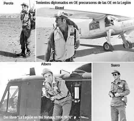Tenientes precursores de OE de la Legión